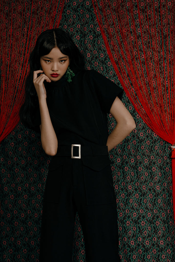 DAMIA TEE CO-ORD (BLACK)