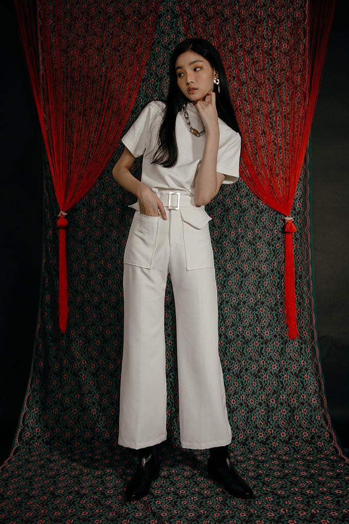 DAMIA TEE CO-ORD (WHITE)