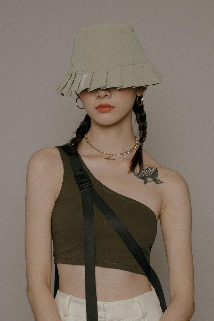 LAMPSHADE BUCKET HAT (SAGE GREEN)