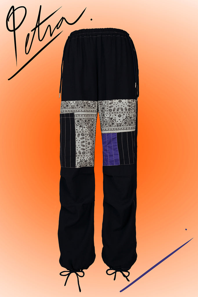 PETRA PATCHWORK PANTS (MIDNIGHT BLUE)