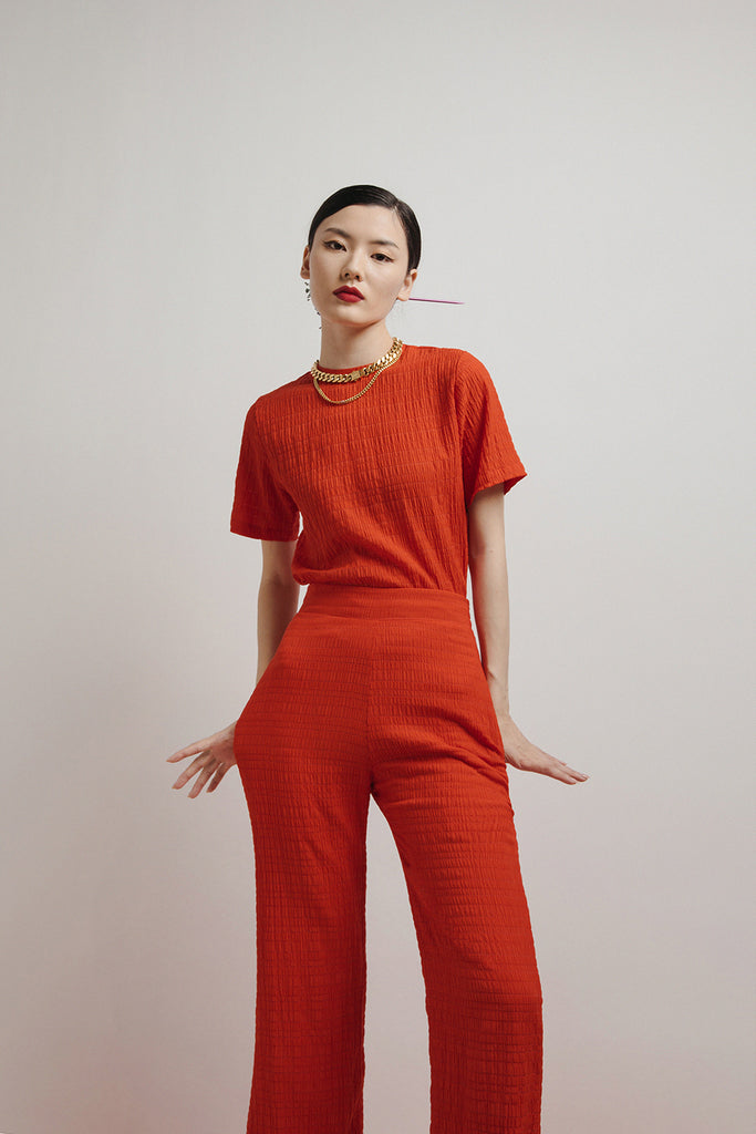 IRENE TEE CO-ORD (RED)