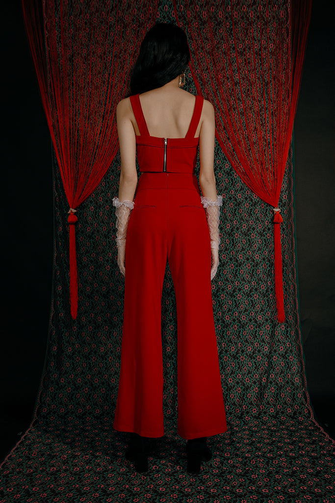 KALI BUSTIER CO-ORD (RED)