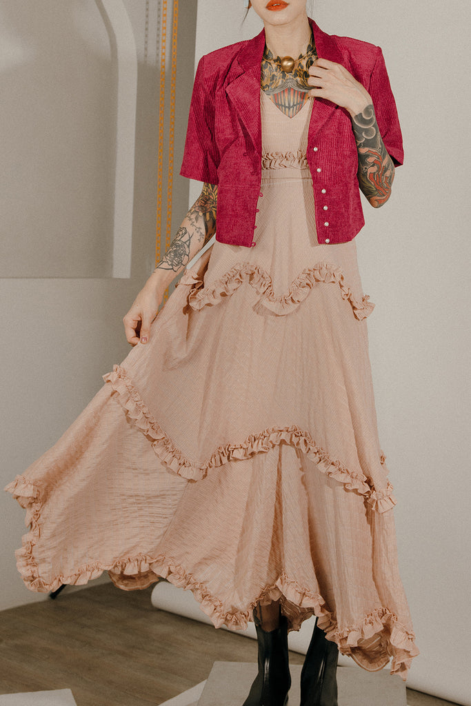 LYRA MAXI DRESS (DUSTY PINK)