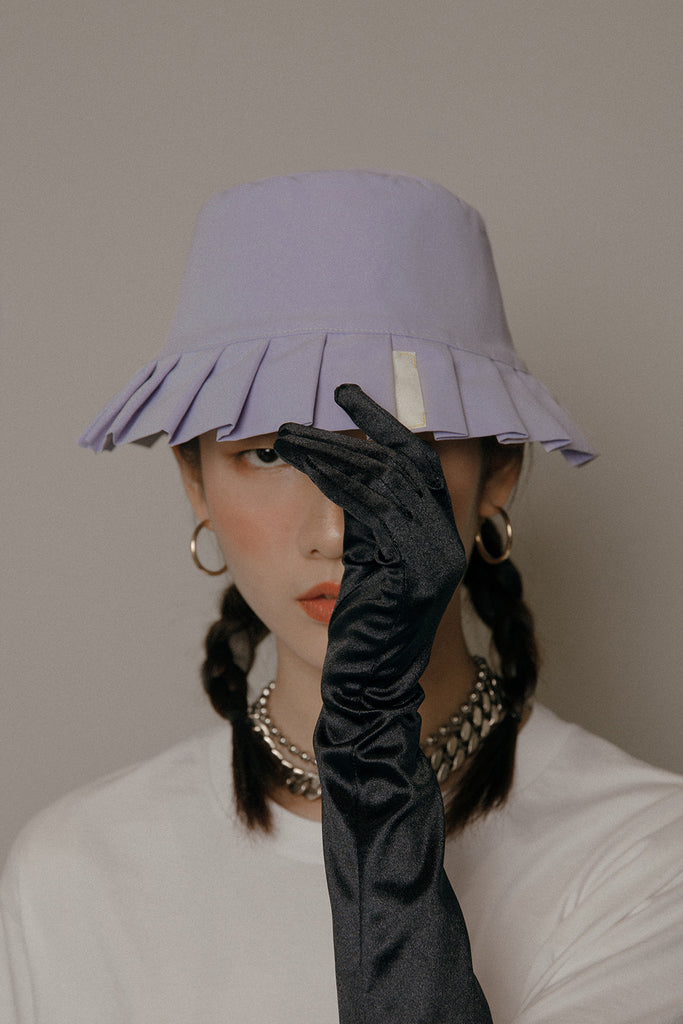 LAMPSHADE BUCKET HAT (LILAC)