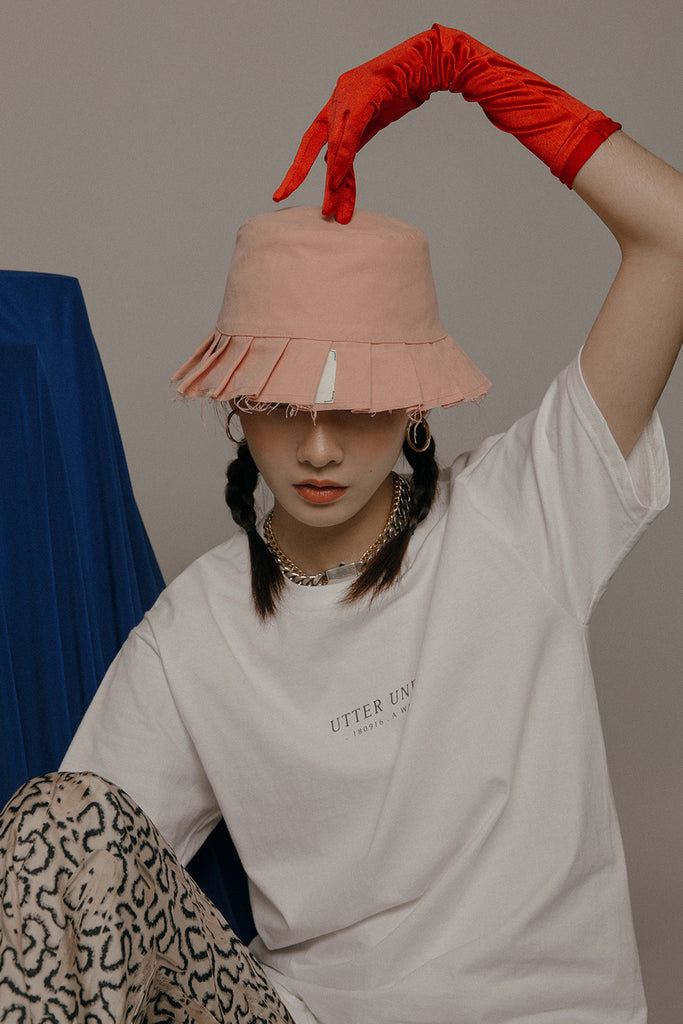 LAMPSHADE BUCKET HAT (PINK)