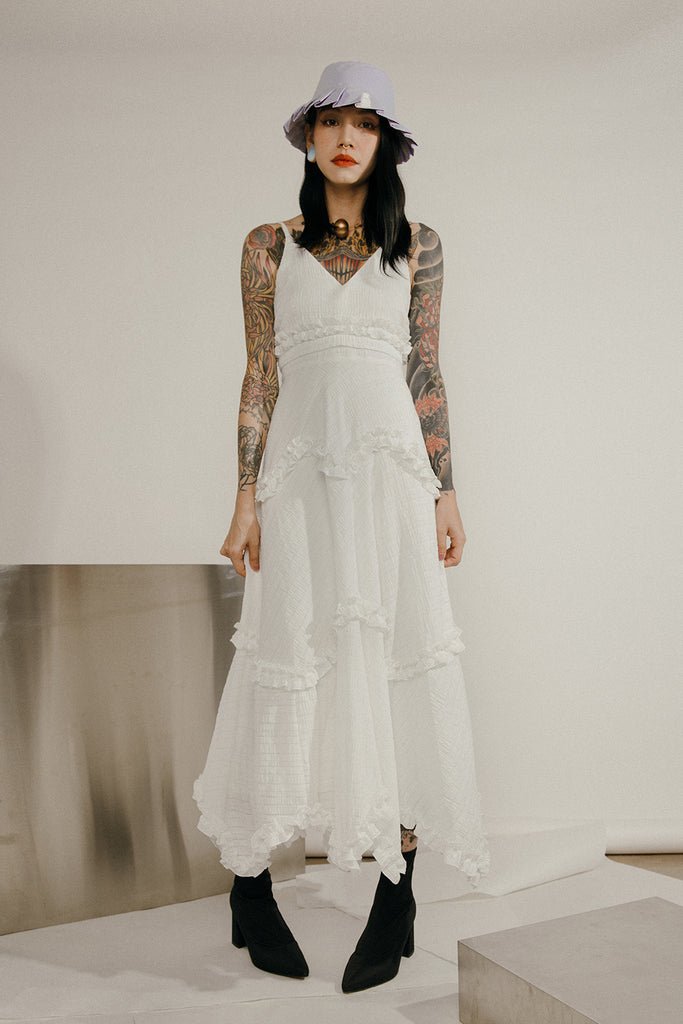 LYRA MAXI DRESS (WHITE)