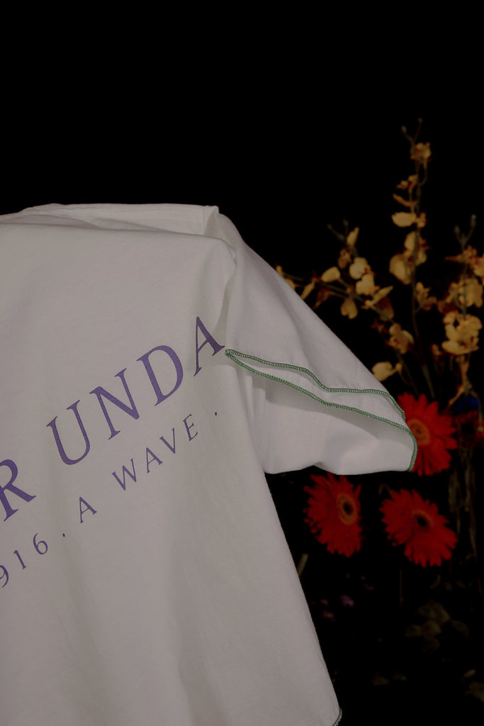 UTTER UNDA CROP T-SHIRT (WHITE)