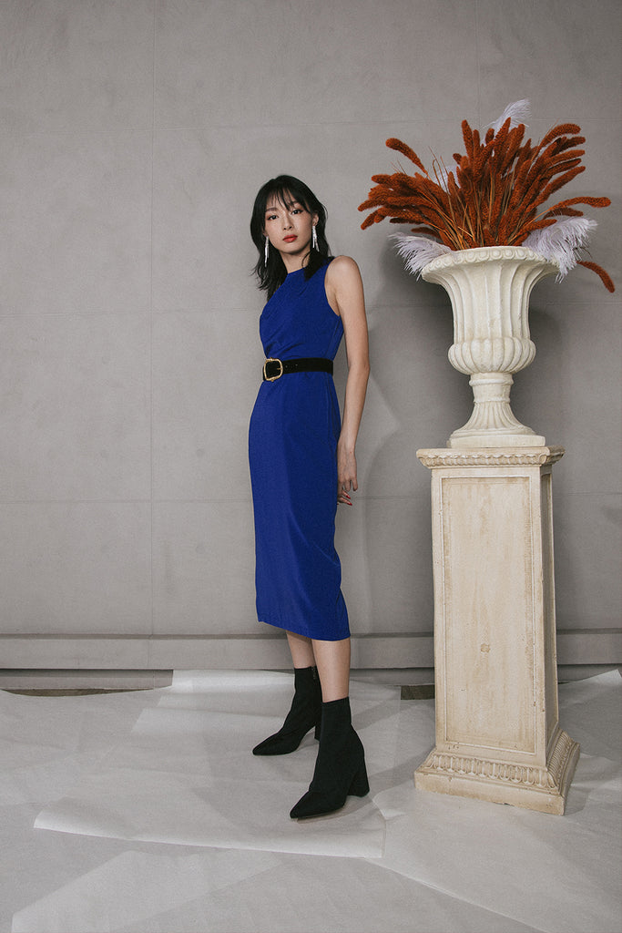 VERITAS MIDI DRESS (ELECTRIC BLUE)