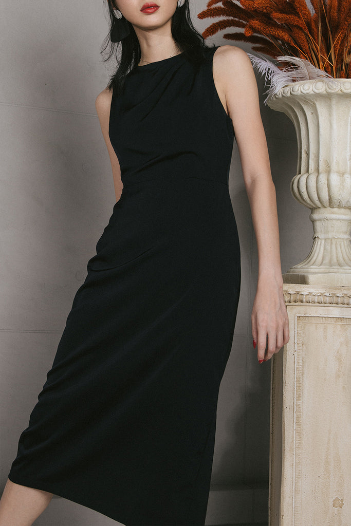 VERITAS MIDI DRESS (BLACK)
