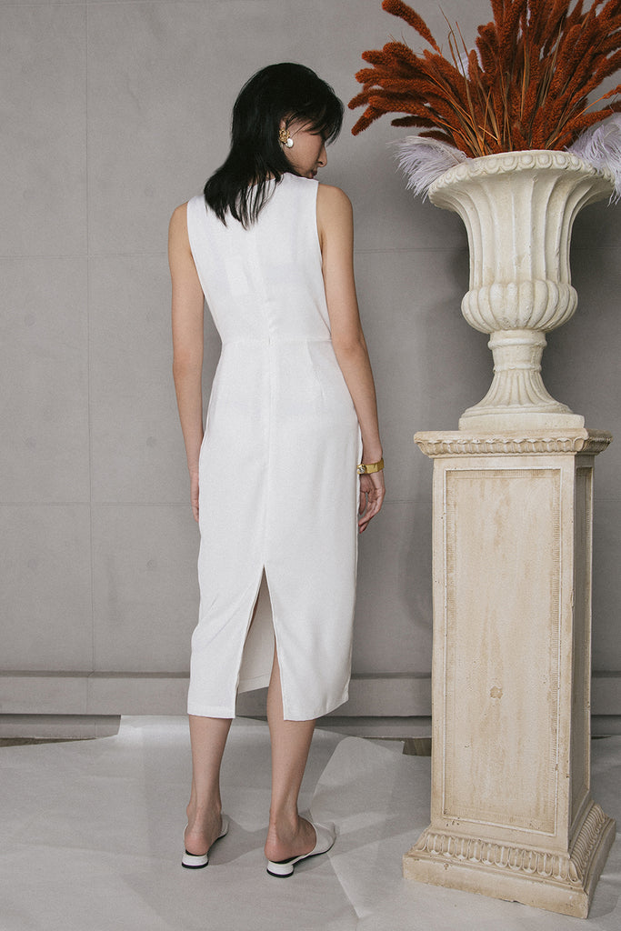 VERITAS MIDI DRESS (WHITE)