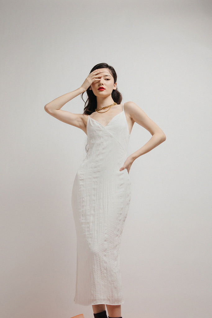 ZORA SLIP DRESS (WHITE)