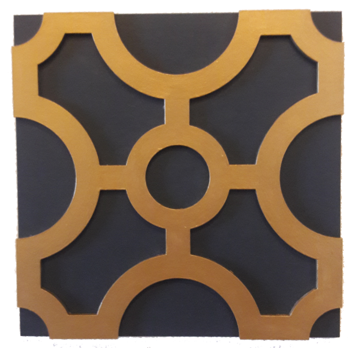 Wall Decor - Geometric pattern - Wall accent - Circles Series