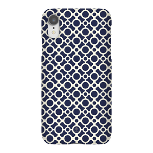 iPhone Phone Case - Circles Blue