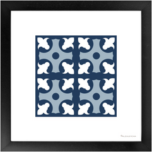 Load image into Gallery viewer, Framed Art Print 4x4 Lapa - Azul - Azulejo