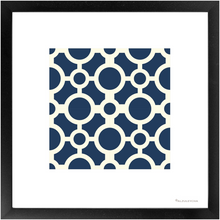 Load image into Gallery viewer, Framed Poster - Art Print 4x4 Círculos - Azul - Blue Tile