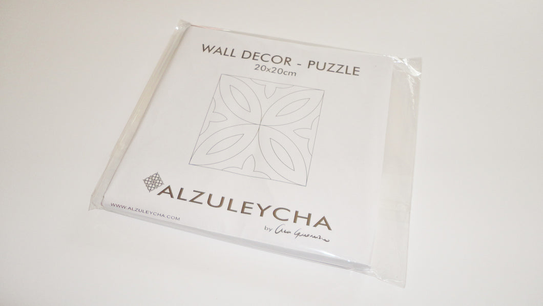 PUZZLE Wall Decor 20x20 - Folha Oliveira Series - Handmade craft
