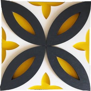 Wall Decor - 3D Tile Pattern - Folha de Oliveira Series