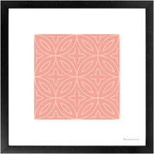 Load image into Gallery viewer, Framed Poster - Art Print 4x4 Folha Oliveira Rosa- Portuguese Pattern