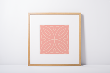 Load image into Gallery viewer, Poster - Art Print - Tile Pattern - Folha de Oliveira - Pink
