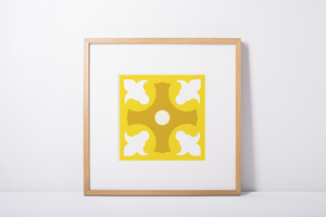 Poster - Art Print - Geometric Pattern - Lapa - Yellow