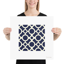 Load image into Gallery viewer, Poster - Art Print 4x4 Círculos AZ - Blue Tile