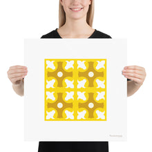 Load image into Gallery viewer, Poster - Art Print - Geometric Pattern - Lapa - 4x4 Yellow