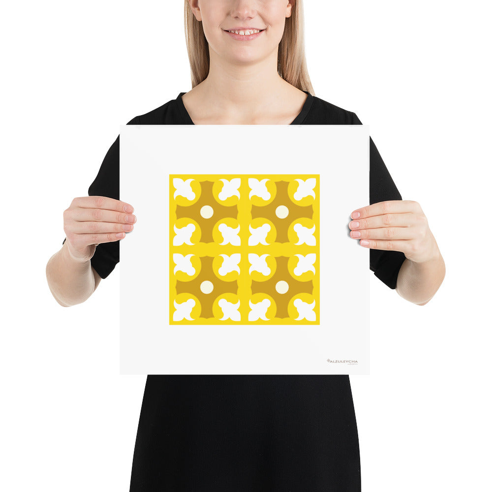 Poster - Art Print - Geometric Pattern - Lapa - 4x4 Yellow