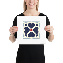 Load image into Gallery viewer, Poster - Art Print - Geometric Pattern -Clover - Blue