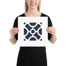 Load image into Gallery viewer, Poster - Art Print AZ - Portuguese Tile - Circles - Blue