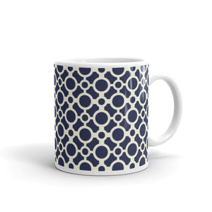 Mug - Tea cup - Circles - Blue