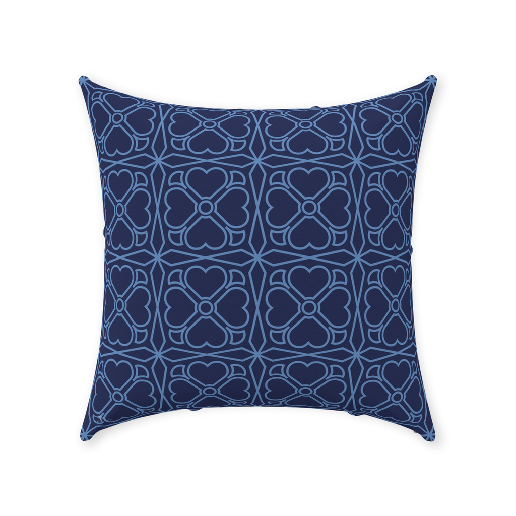 Throw Pillow - Trevo Azul