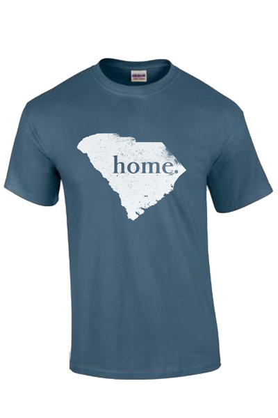 "SHIP NOW Short Sleeve South Carolina ""home"" T - indigo"