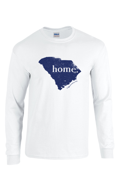 "SHIPS NOW!!! Long Sleeve South Carolina ""home"" T - white"