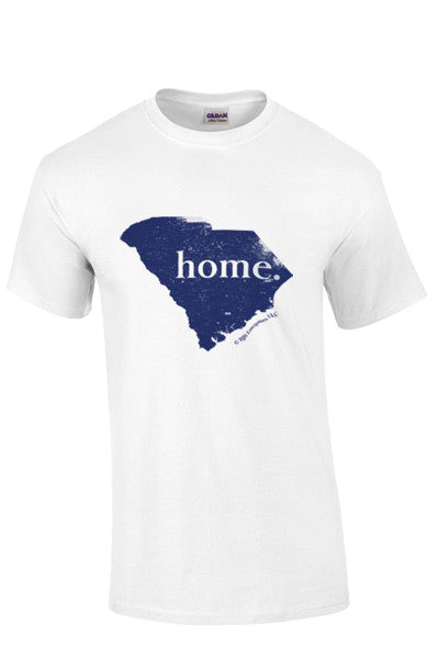 "SHIP NOW!!! Short Sleeve South Carolina ""home"" T - white"