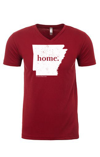 Arkansas home tee - v neck