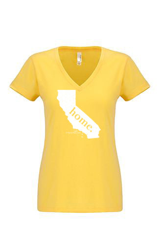 California home tshirt - Ladies v neck