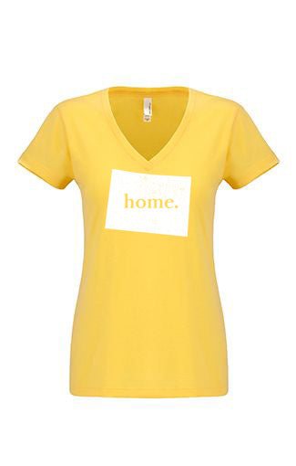 Colorado home tshirt - Ladies v neck