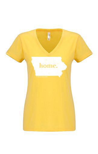 Iowa home tshirt - Ladies v neck
