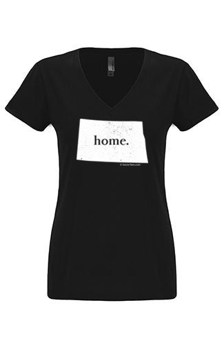 North Dakota home tshirt - Ladies v neck