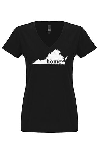 Virginia home tshirt - Ladies v neck