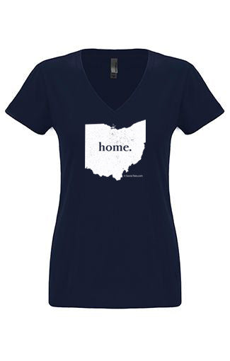 Ohio home tshirt - Ladies v neck