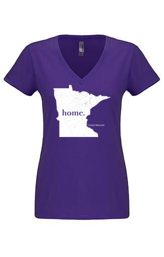 Minnesota home tshirt - Ladies v neck