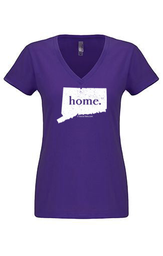 Connecticut home tshirt - Ladies v neck