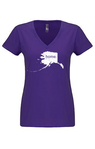 Alaska home tshirt - Ladies v neck