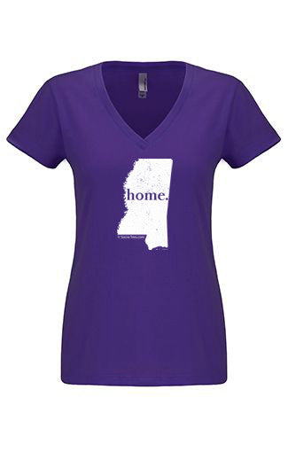 Mississippi home tshirt - Ladies v neck