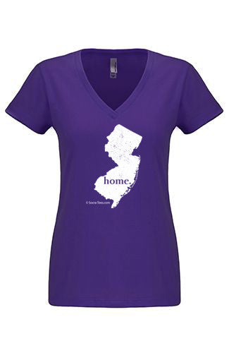 New Jersey home tshirt - Ladies v neck
