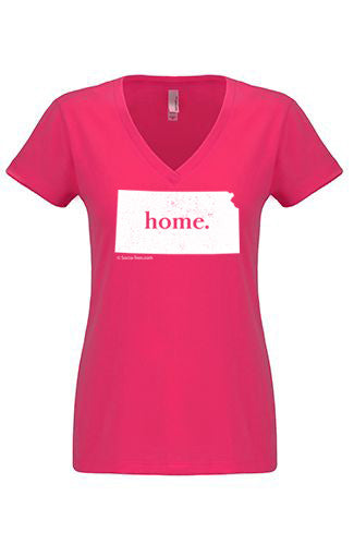 Kansas home tshirt - Ladies v neck