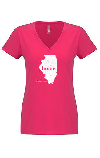 Illinois home tshirt - Ladies v neck