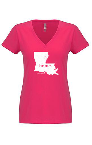 Louisiana home tshirt - Ladies v neck