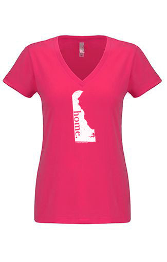 Delaware home tshirt - Ladies v neck